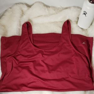 Burgundy red old navy Active top